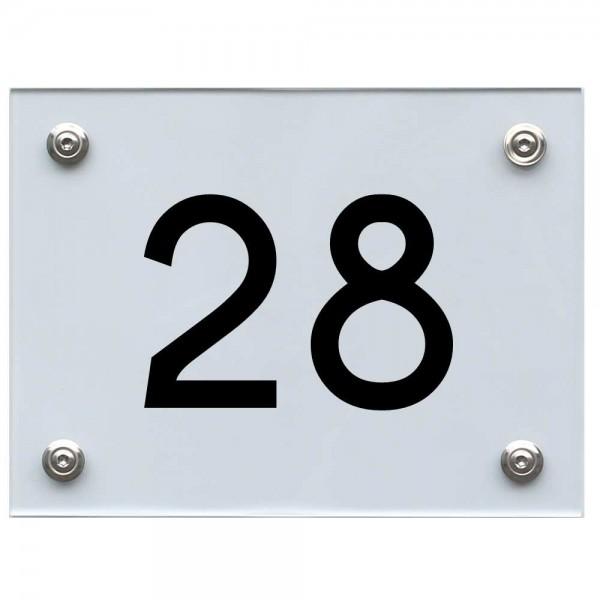 Hausnummernschild 28 schwarz