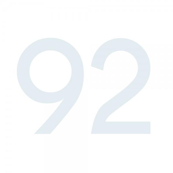 Zahlenaufkleber 92 weiß