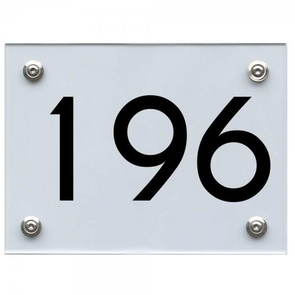 Hausnummernschild 196 schwarz