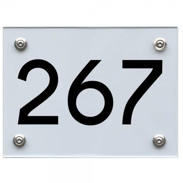 Hausnummernschild 267 schwarz