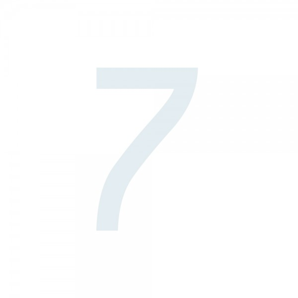 Zahlenaufkleber 7 weiß