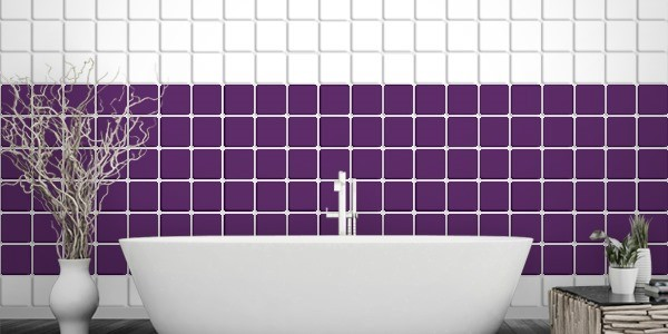 Fliesenaufkleber violett