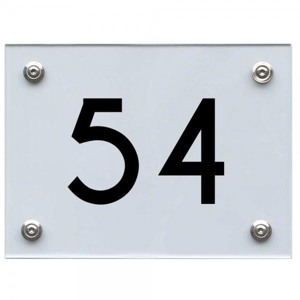 Hausnummernschild 54 schwarz