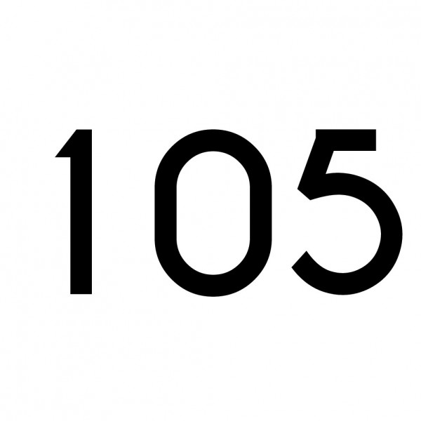 Hausnummer Aufkleber 105 schwarz