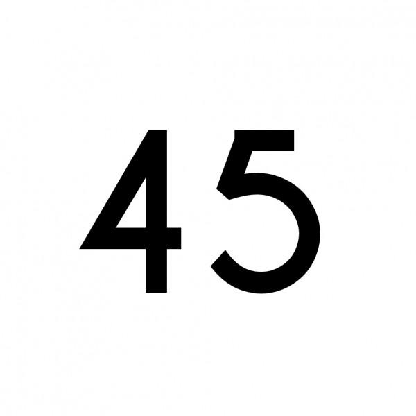 Hausnummer Aufkleber 45 schwarz