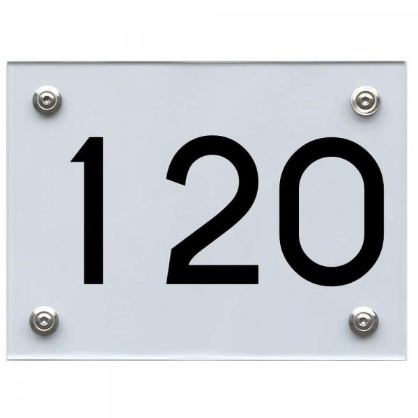 Hausnummernschild 120 schwarz