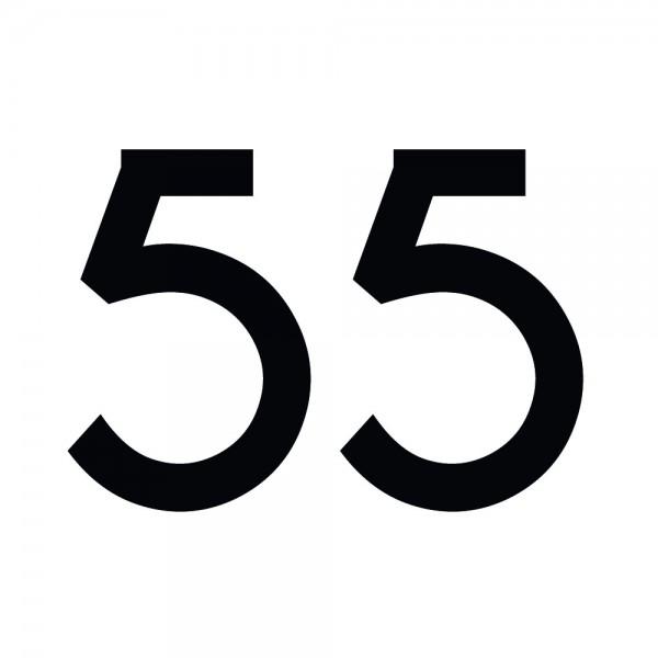 Zahlenaufkleber 55 schwarz