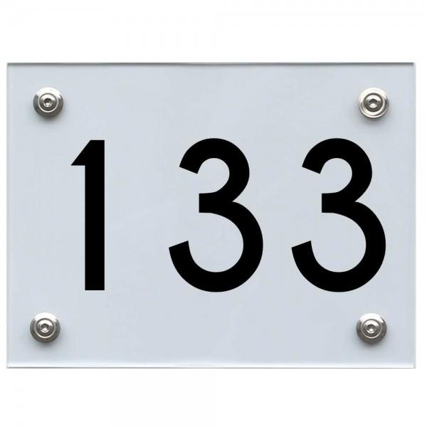 Hausnummernschild 133 schwarz