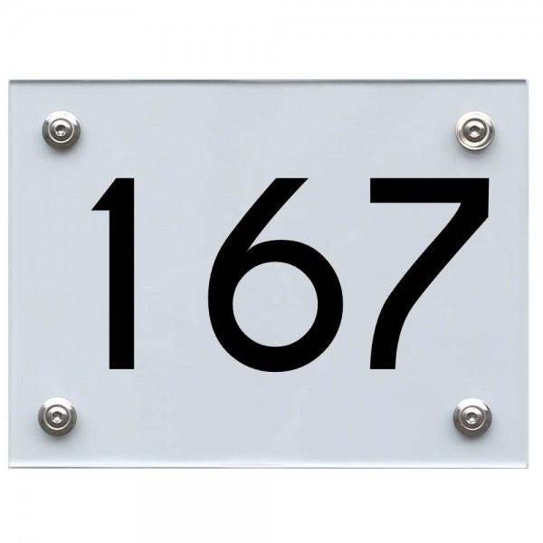 Hausnummernschild 167 schwarz
