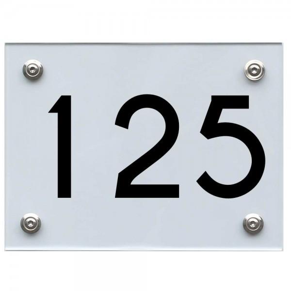 Hausnummernschild 125 schwarz