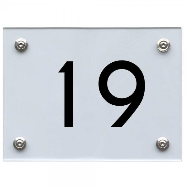 Hausnummernschild 19 schwarz