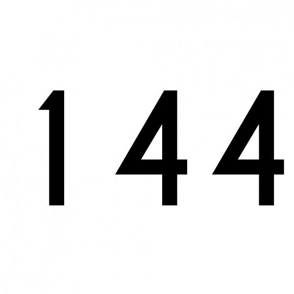 Hausnummer Aufkleber 144 schwarz
