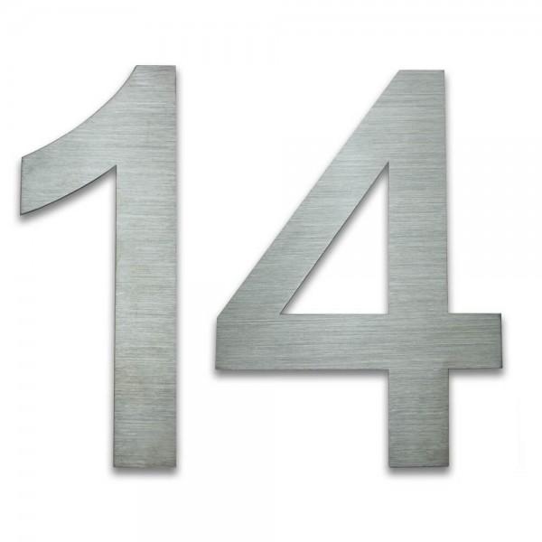 Hausnummer Edelstahl 14