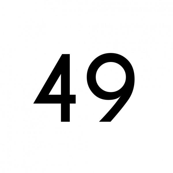 Hausnummer Aufkleber 49 schwarz