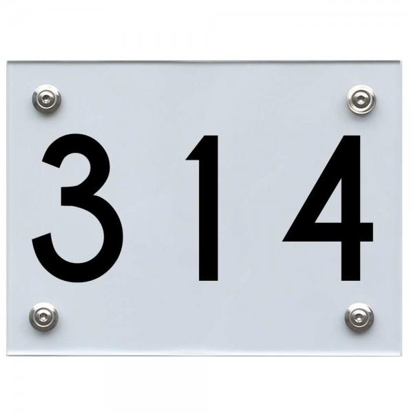 Hausnummernschild 314 schwarz