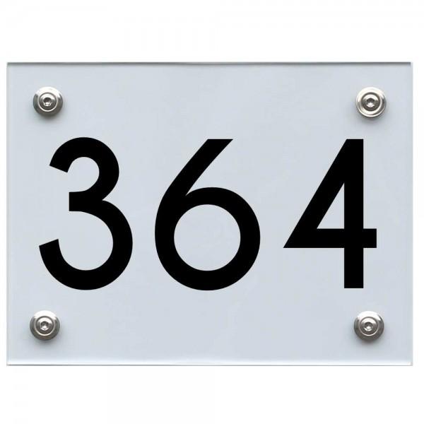 Hausnummernschild 364 schwarz