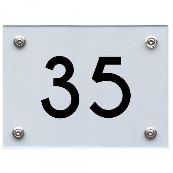 Hausnummernschild 35 schwarz