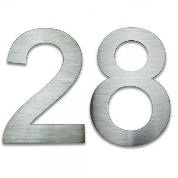 Hausnummer Edelstahl 28