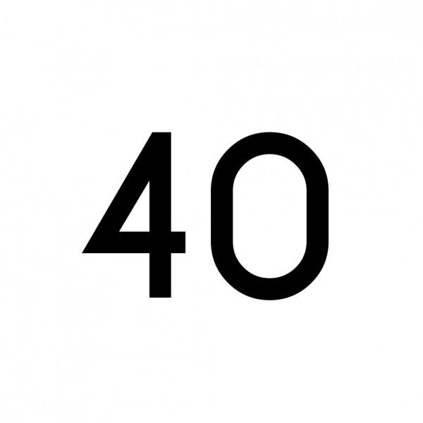 Hausnummer Aufkleber 40 schwarz