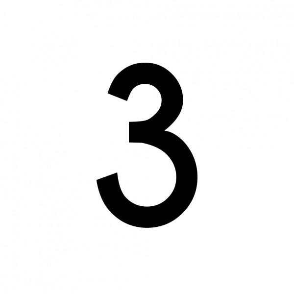 Hausnummer Aufkleber 3