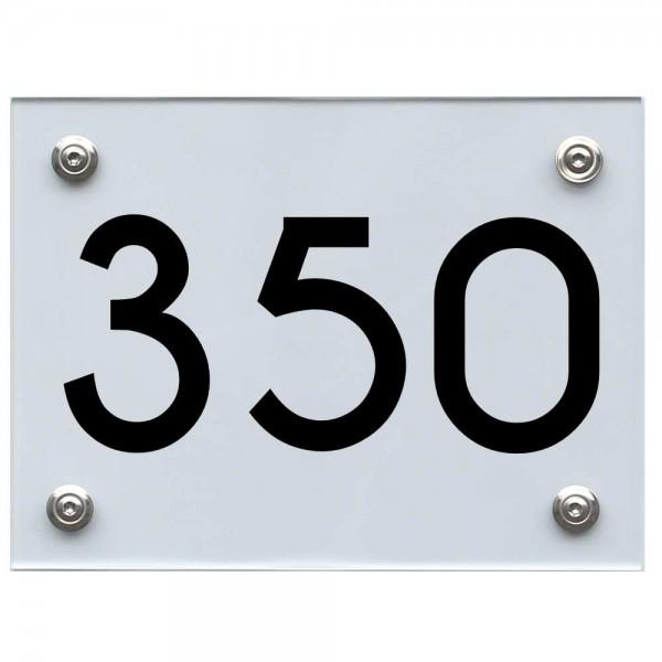 Hausnummernschild 350 schwarz