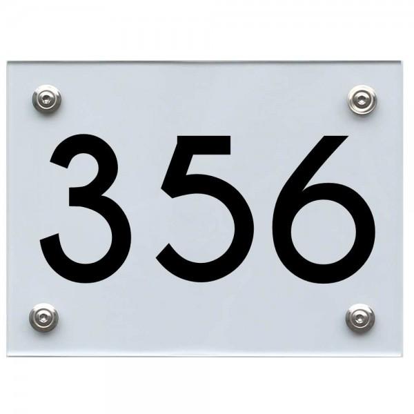 Hausnummernschild 356 schwarz