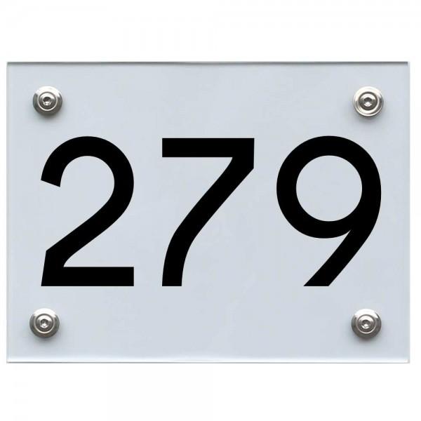 Hausnummernschild 279 schwarz