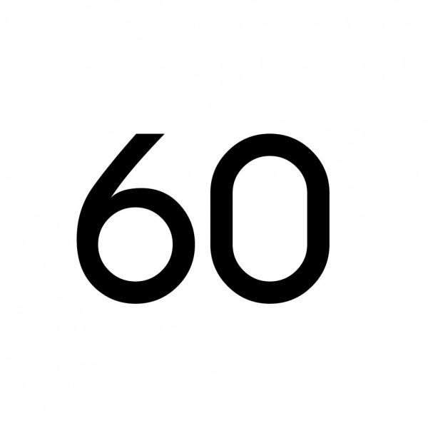 Hausnummer Aufkleber 60 schwarz