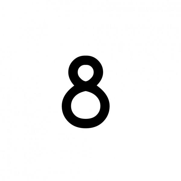 Hausnummer Aufkleber 8 schwarz