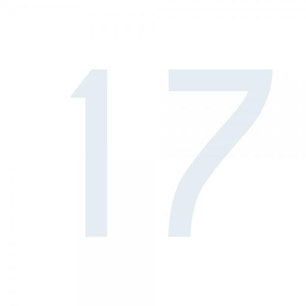 Zahlenaufkleber 17 weiß
