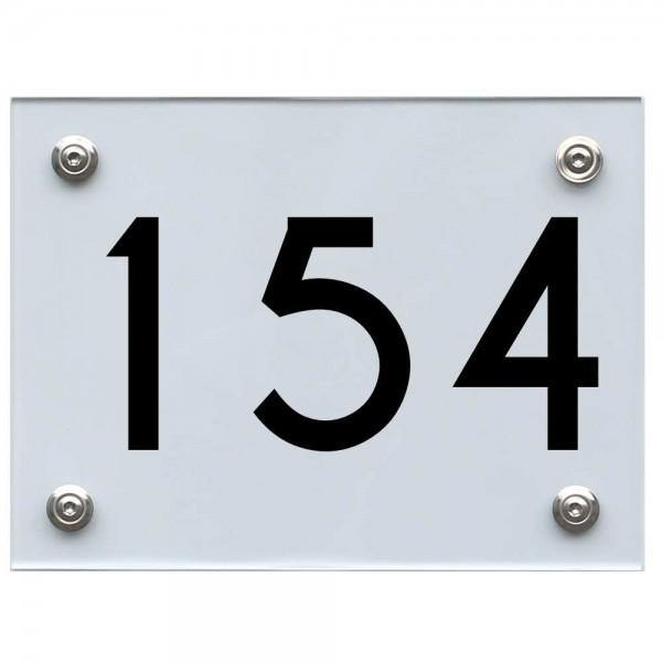 Hausnummernschild 154 schwarz