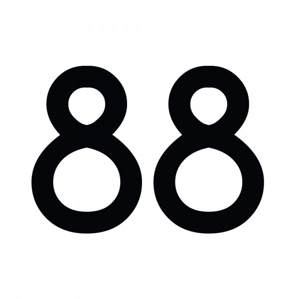 Zahlenaufkleber 88 schwarz