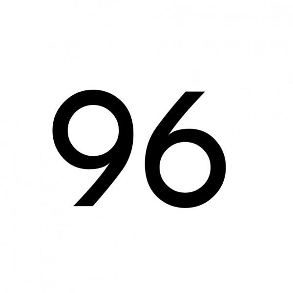 Hausnummer Aufkleber 96 schwarz