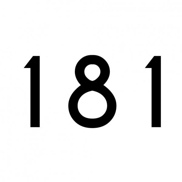 Hausnummer Aufkleber 181 schwarz