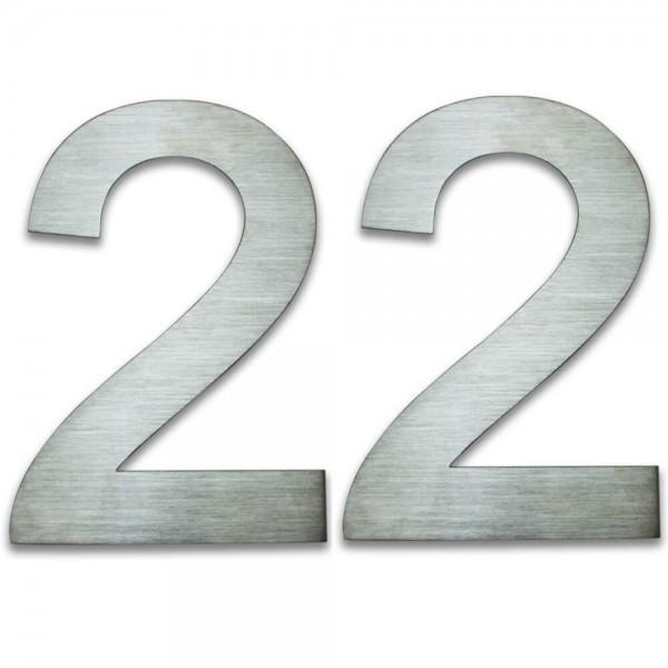 Hausnummer Edelstahl 22