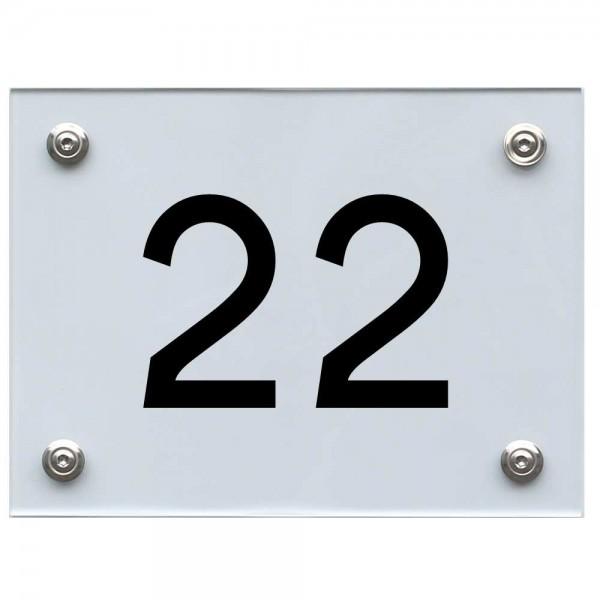 Hausnummernschild 22 schwarz