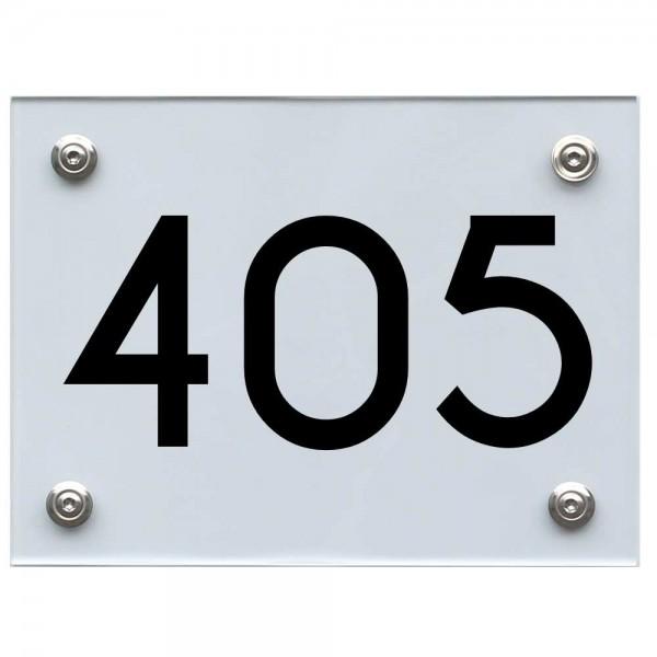 Hausnummernschild 405 schwarz