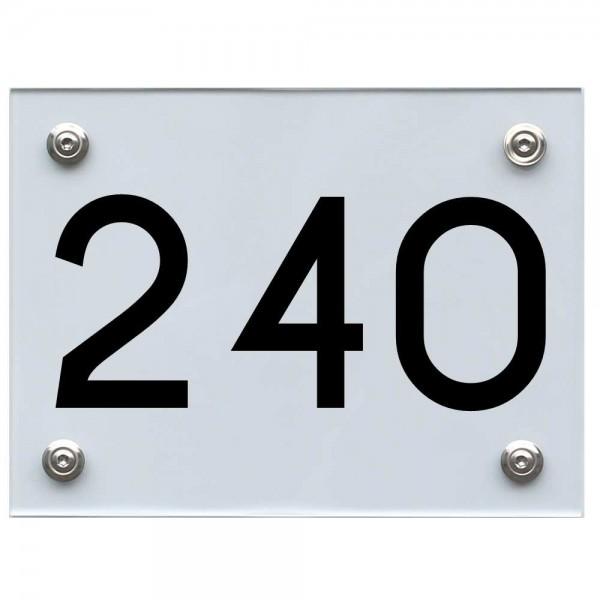 Hausnummernschild 240 schwarz