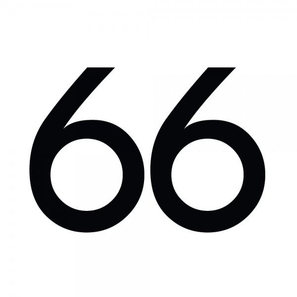 Zahlenaufkleber 66 schwarz