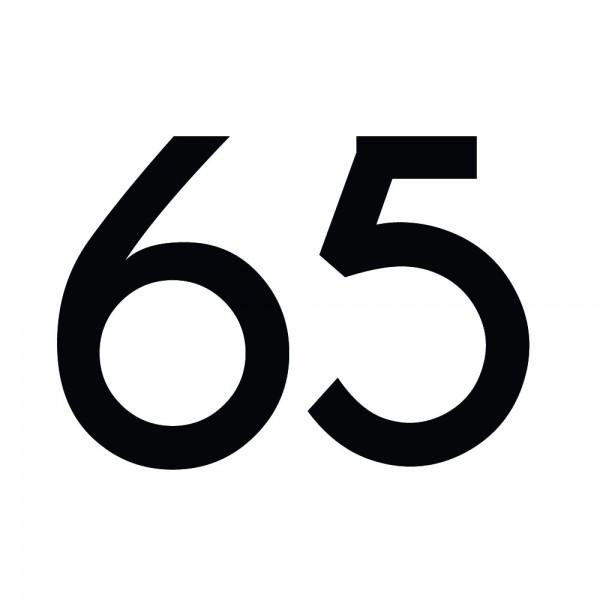 Zahlenaufkleber 65 schwarz