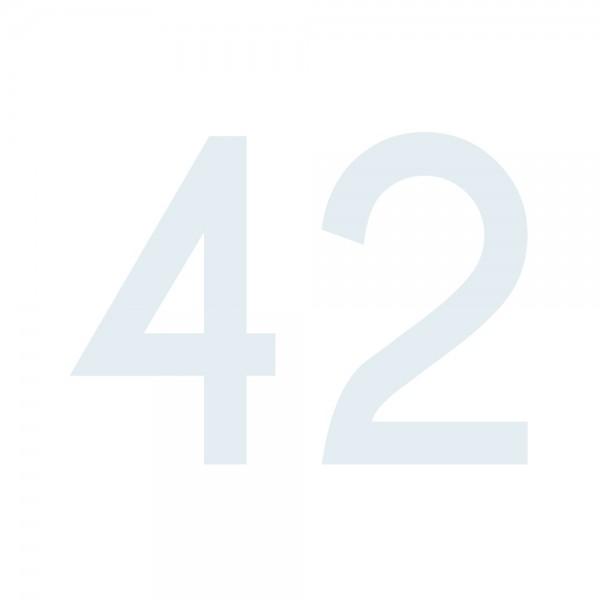 Zahlenaufkleber 42 weiß