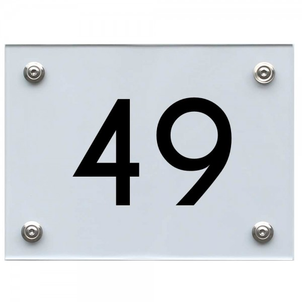 Hausnummernschild 49 schwarz