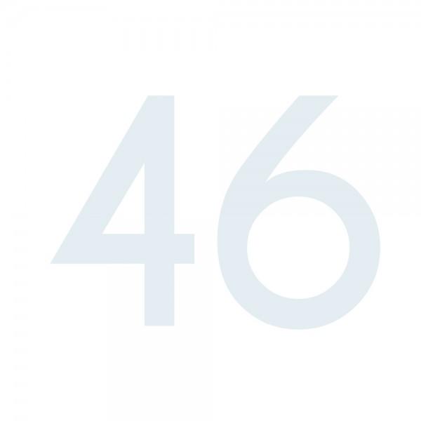 Zahlenaufkleber 46 weiß