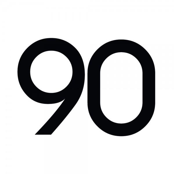 Zahlenaufkleber 90 schwarz