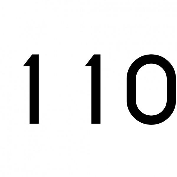 Hausnummer Aufkleber 110 schwarz