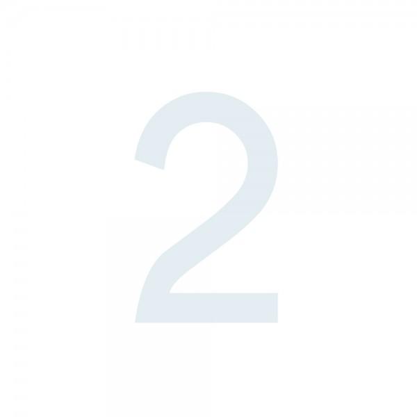 Zahlenaufkleber 2 weiß
