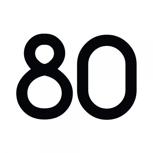 Zahlenaufkleber 80 schwarz