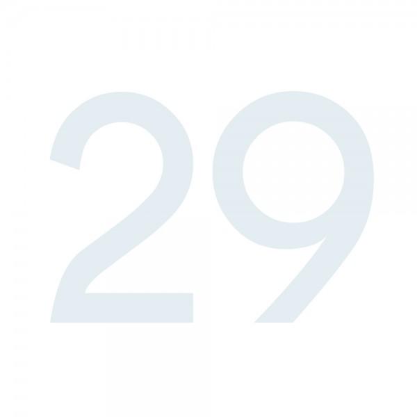 Zahlenaufkleber 29 weiß