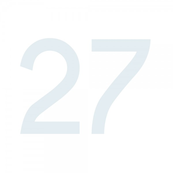 Zahlenaufkleber 27 weiß
