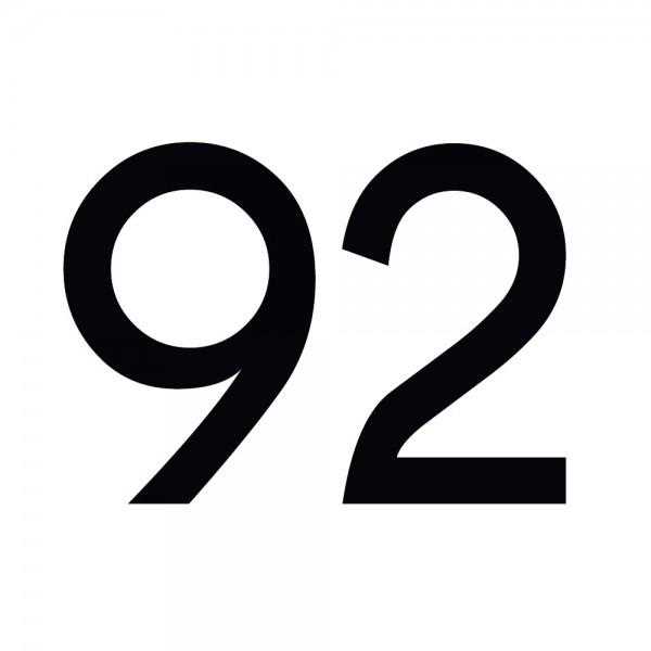 Zahlenaufkleber 92 schwarz